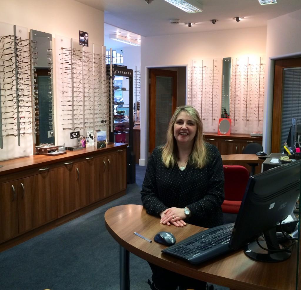 Belinda at Dispensing desk