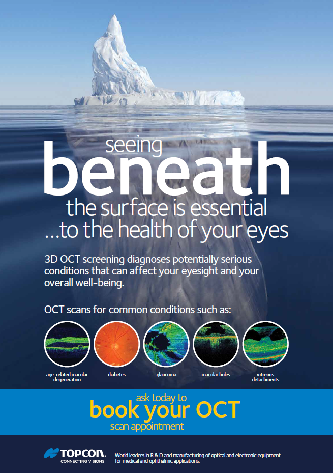 OCT A2 Seeing Beneath the surface poster